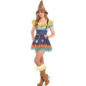 NEW WIZARD OF OZ Scarecrow Women's Adult Costume Size Large